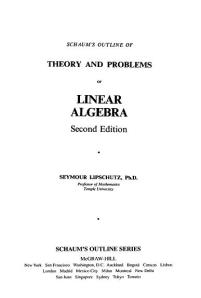 cover - Schaum's Outline of Theory and Problems of Linear Algebra, Second Edition