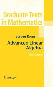 cover steven roman - advanced linear algebra - edisi 3